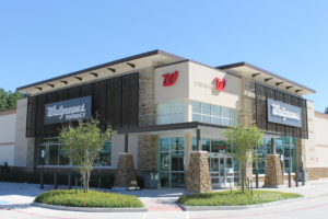 Showing specialty aluminum work for Walgreen's pharmacy.