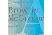 Showing Browne McGregor's logo.