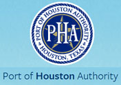 Showing the logo for the Port of Houston.