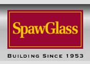 Showing Spaw Glass' logo.