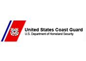 Showing the logo of the US Coast Guard.