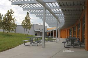 Showing outdoor aluminum walkway covers.